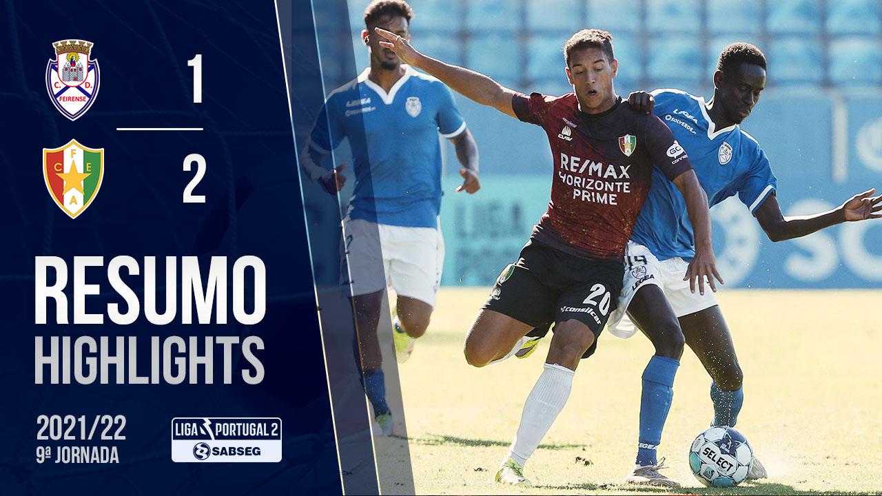 Liga Portugal SABSEG (9ª Jornada): Resumo CD Feirense 1-2 Estrela Amadora