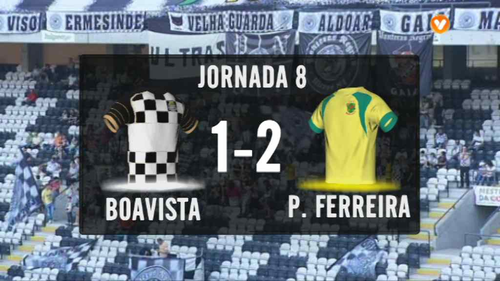 I Liga (8ªJ): Resumo Boavista FC 1-2 FC P.Ferreira