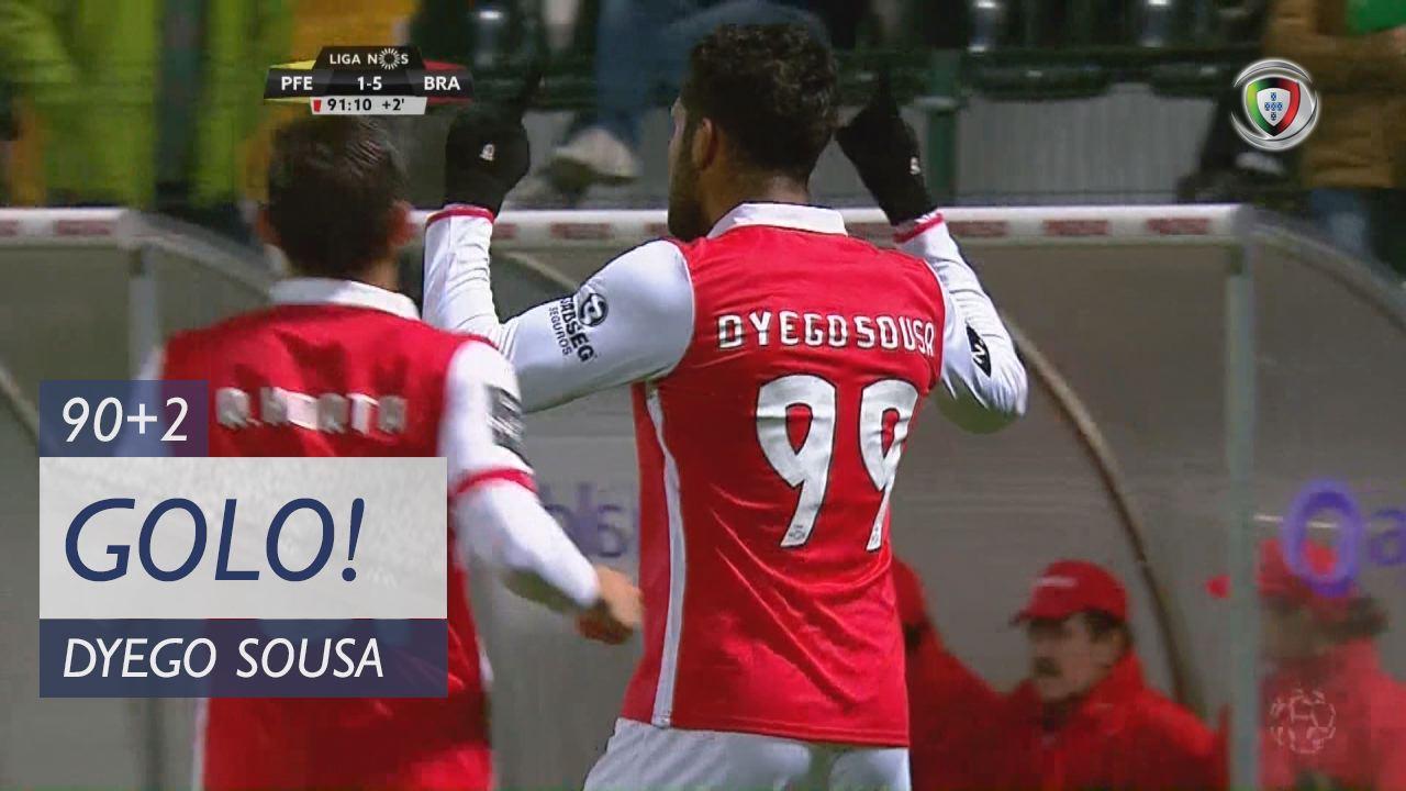 GOLO! SC Braga, Dyego Sousa aos 90'+2', FC P.Ferreira 1-5 SC Braga