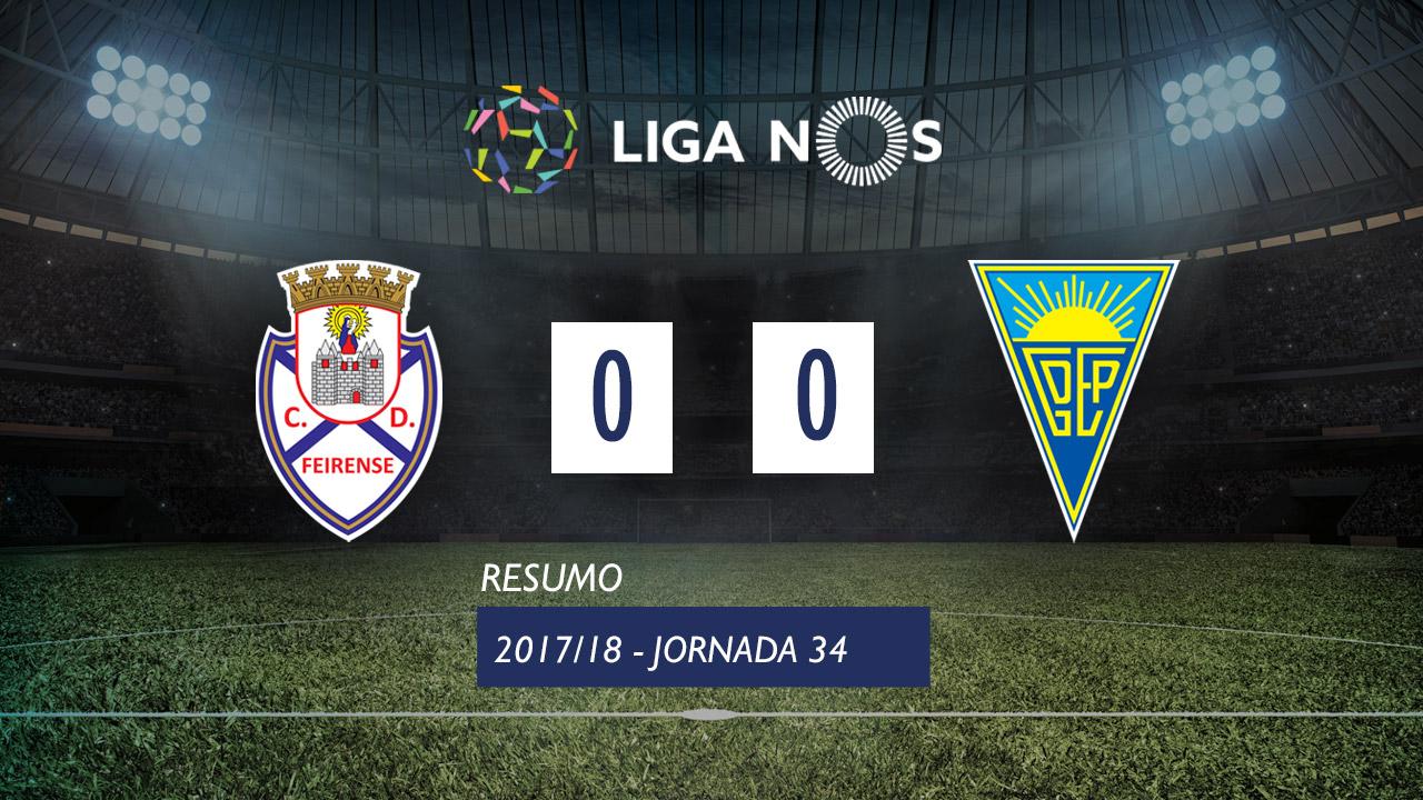 I Liga (34ªJ): Resumo CD Feirense 0-0 Estoril Praia