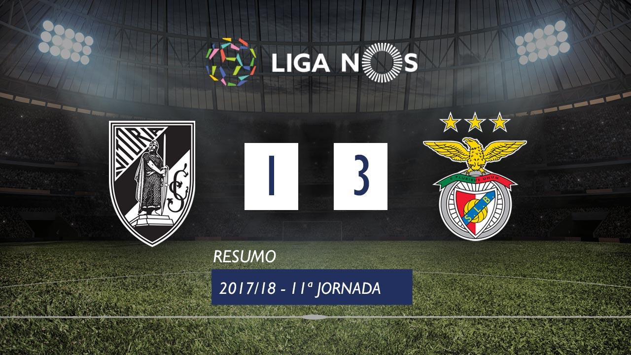 I Liga (11ªJ): Resumo Vitória SC 1-3 SL Benfica