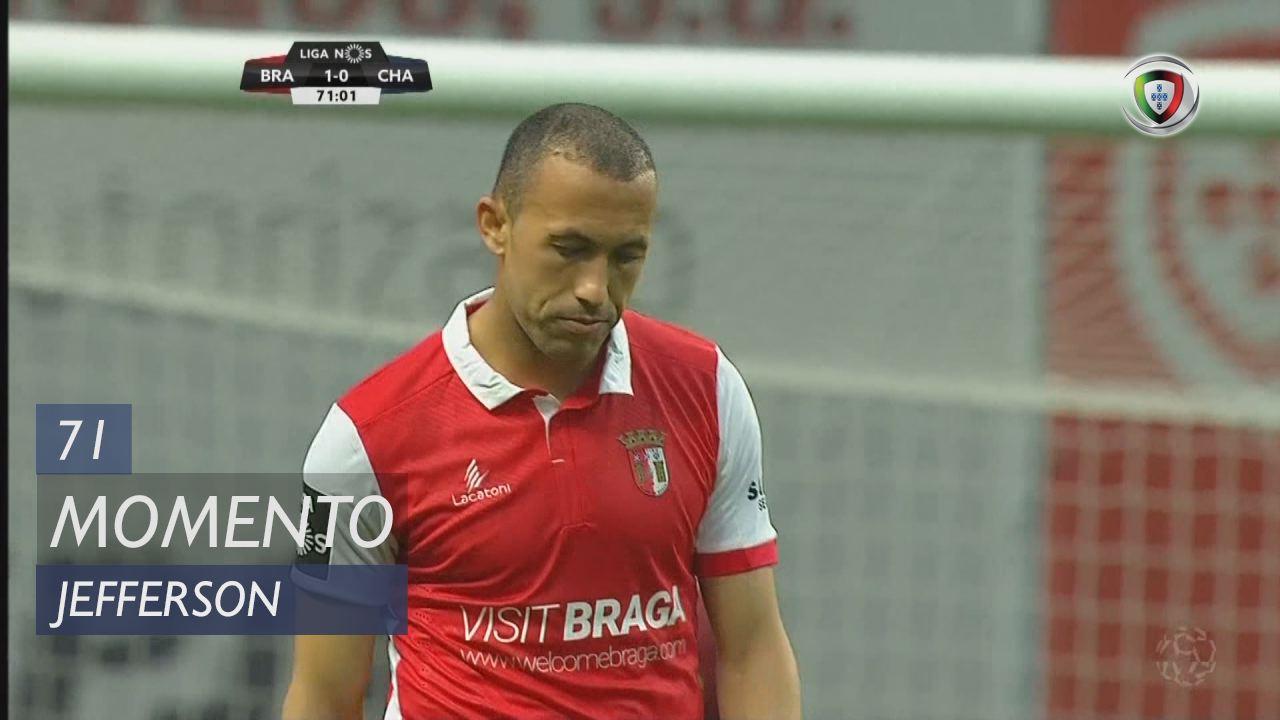 Braga Chaves: SC Braga, Jogada, Jefferson, 71m