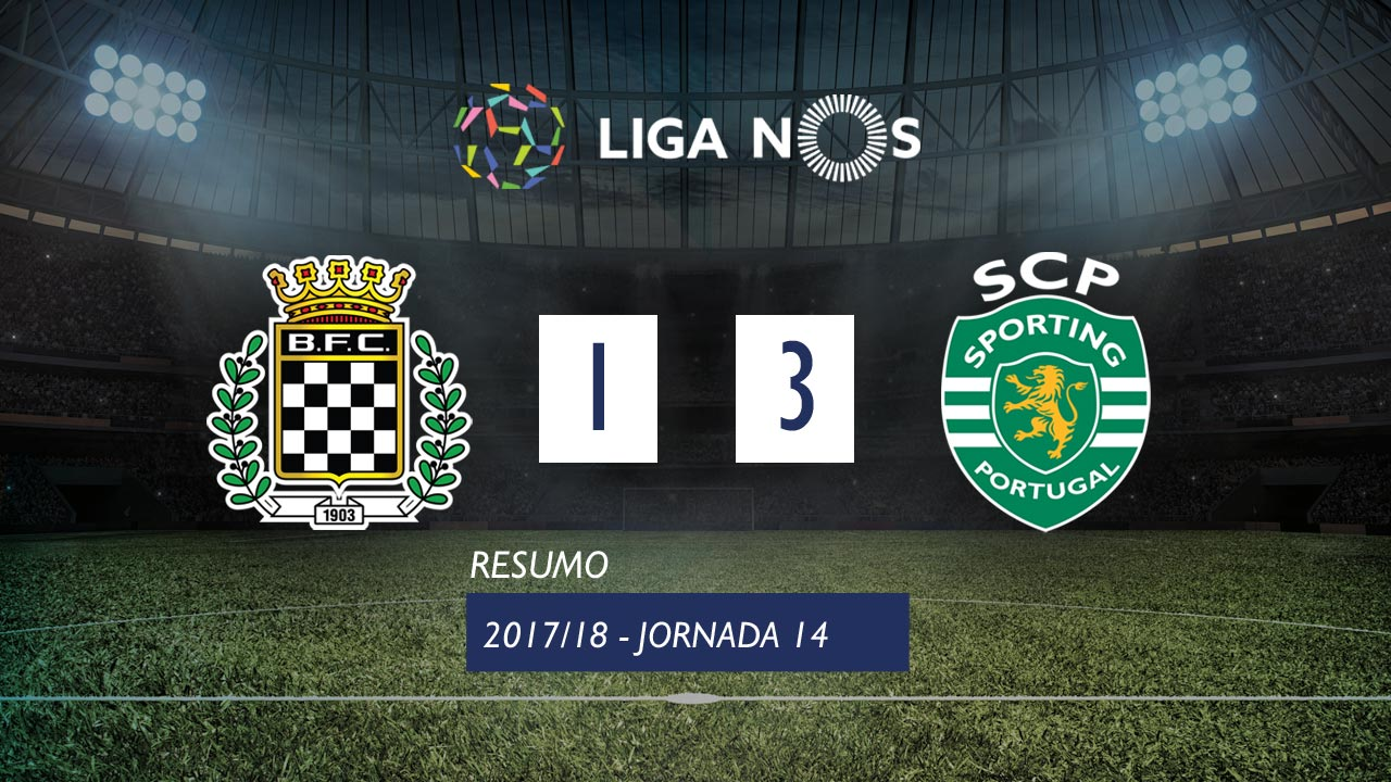 Liga NOS (14ªJ): Resumo Boavista FC 1-3 Sporting CP