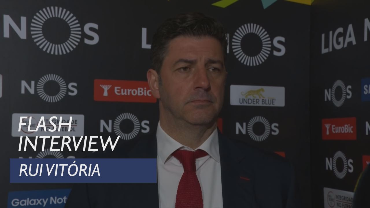 Liga (24ª): Flash interview Rui Vitória