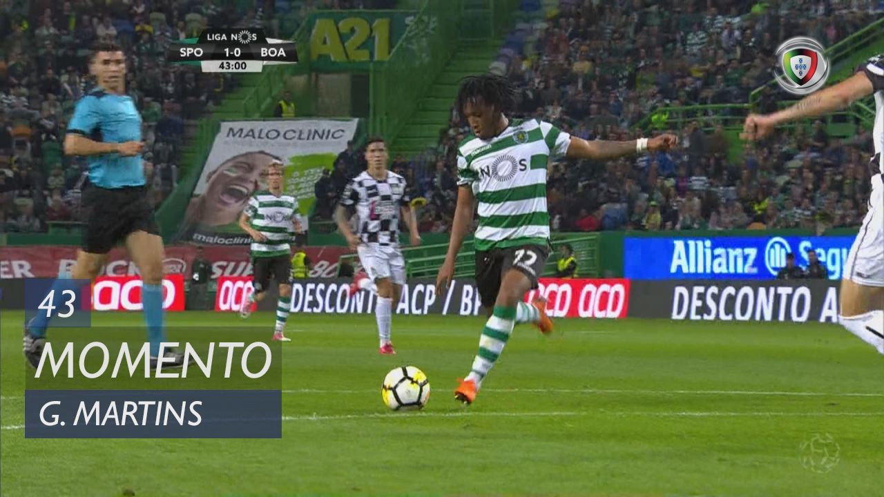 Sporting CP, Jogada, Gelson Martins aos 43'