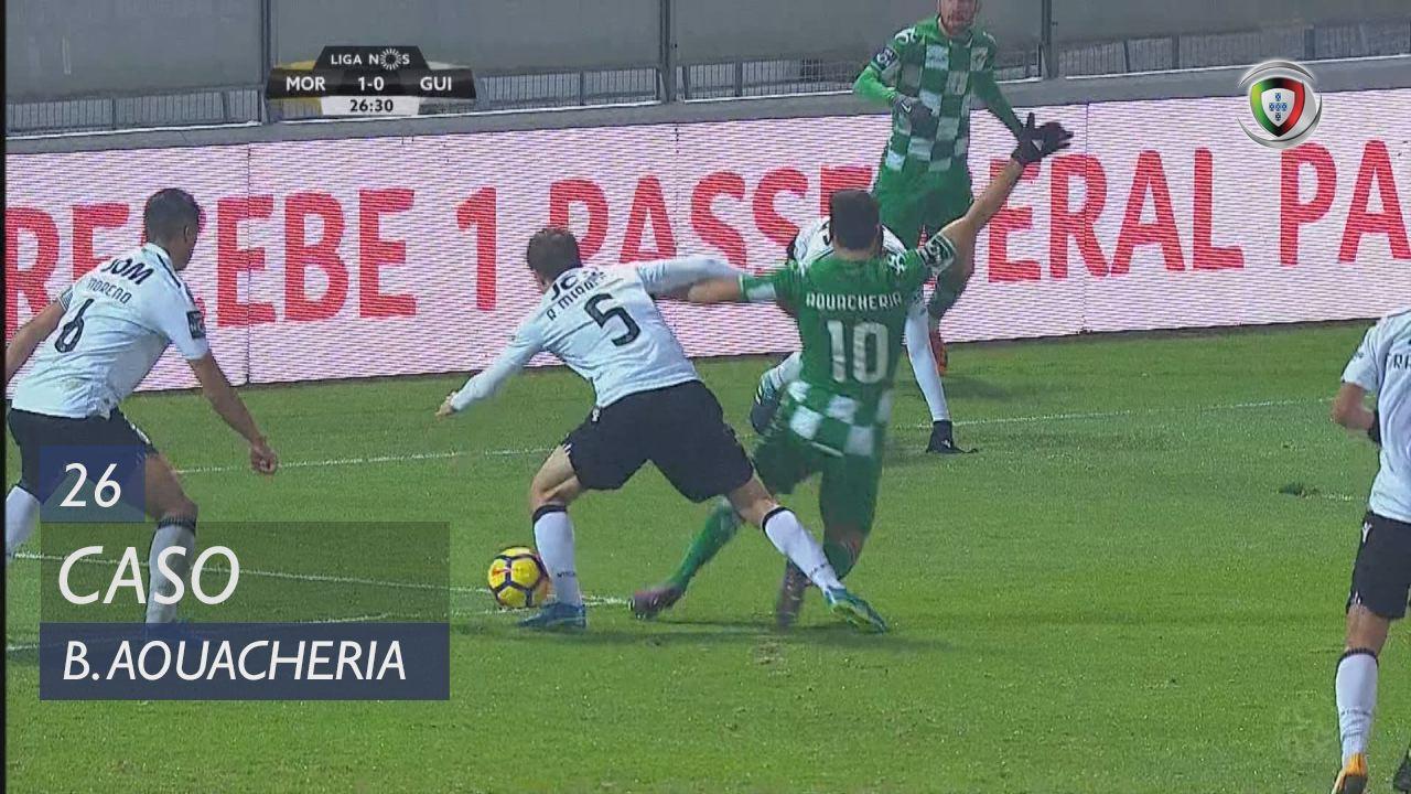 Moreirense FC, Caso, B. Aouacheria aos 26'