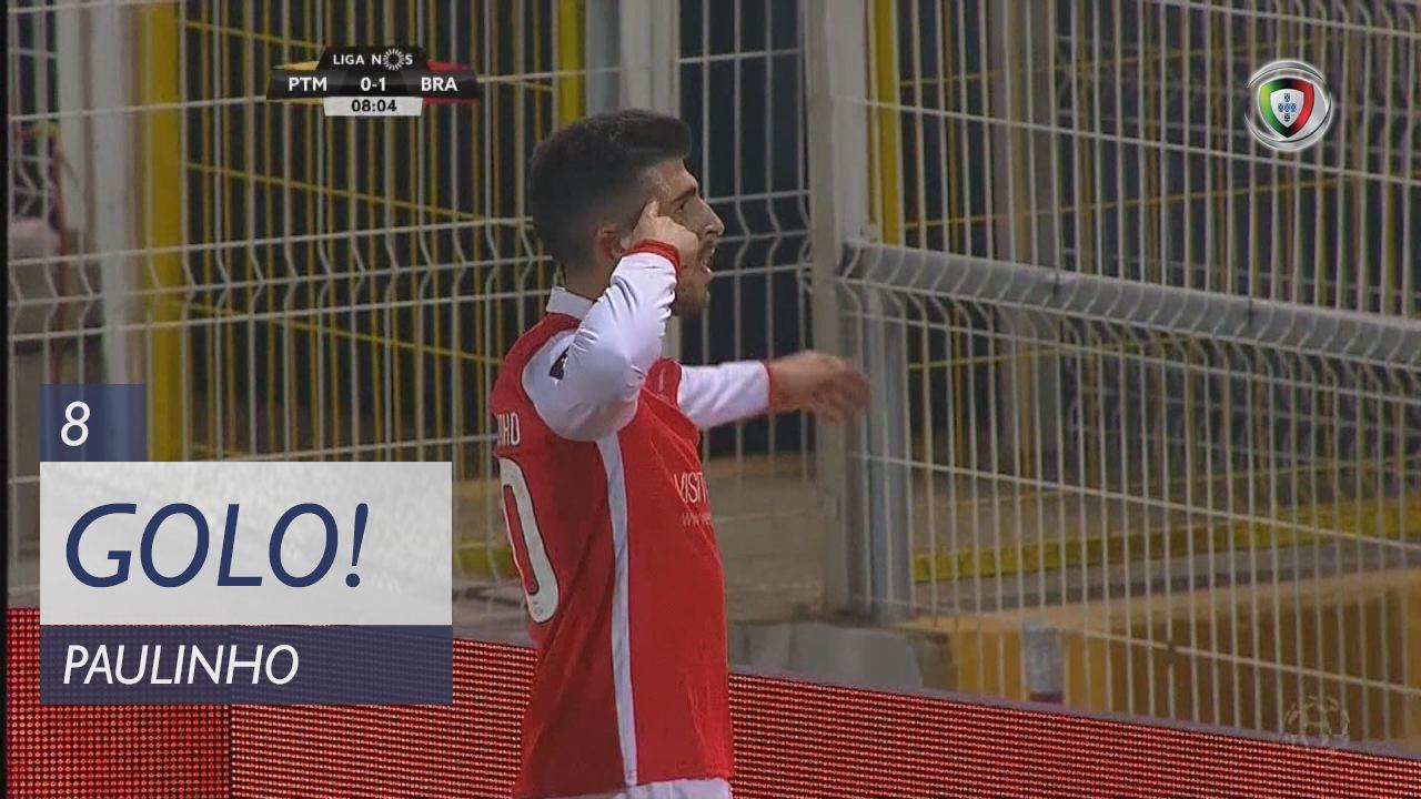 SC Braga, Paulinho aos 8', Portimonense 0-1 SC Braga
