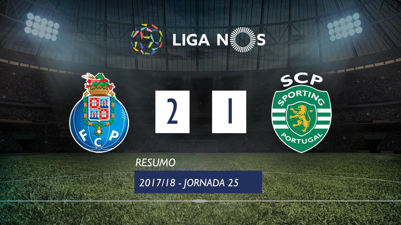 I Liga (25ªJ): Resumo FC Porto 2-1 Sporting CP