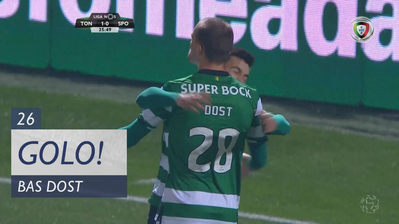 Sporting CP, Bas Dost aos 26', CD Tondela 1-1 Sporting CP