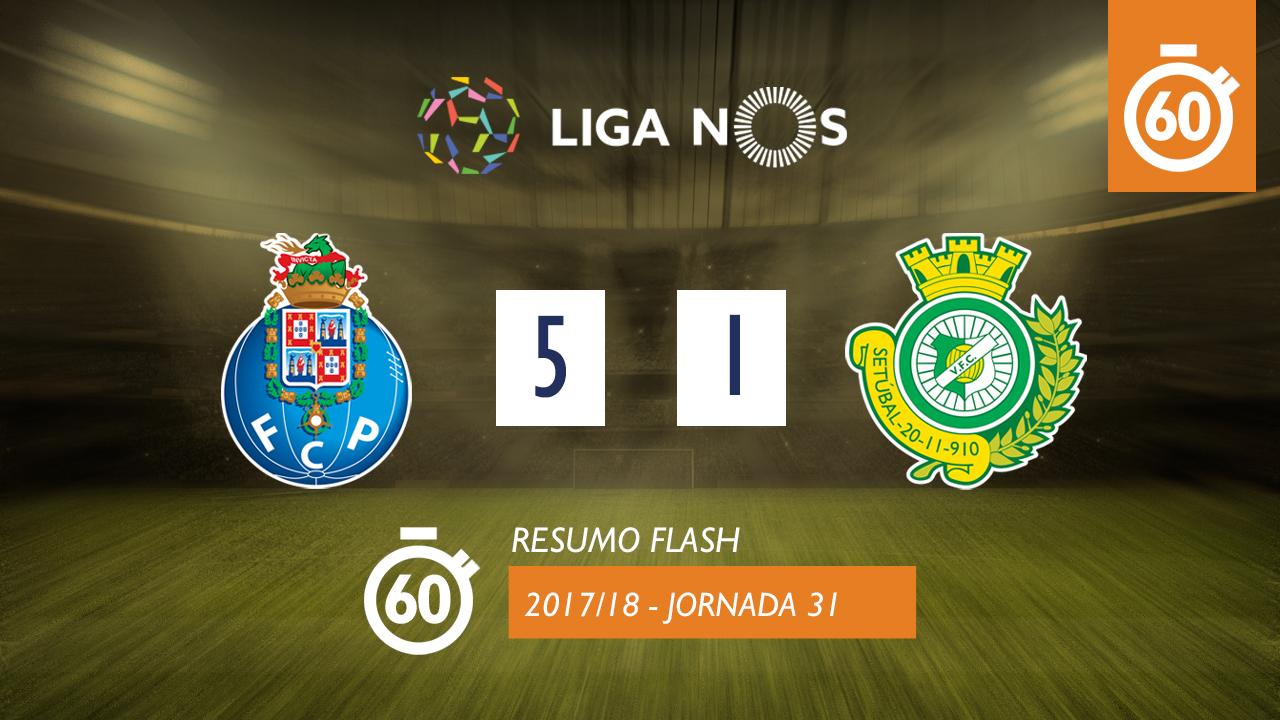 I Liga (31ªJ): Resumo Flash FC Porto 5-1 Vitória FC