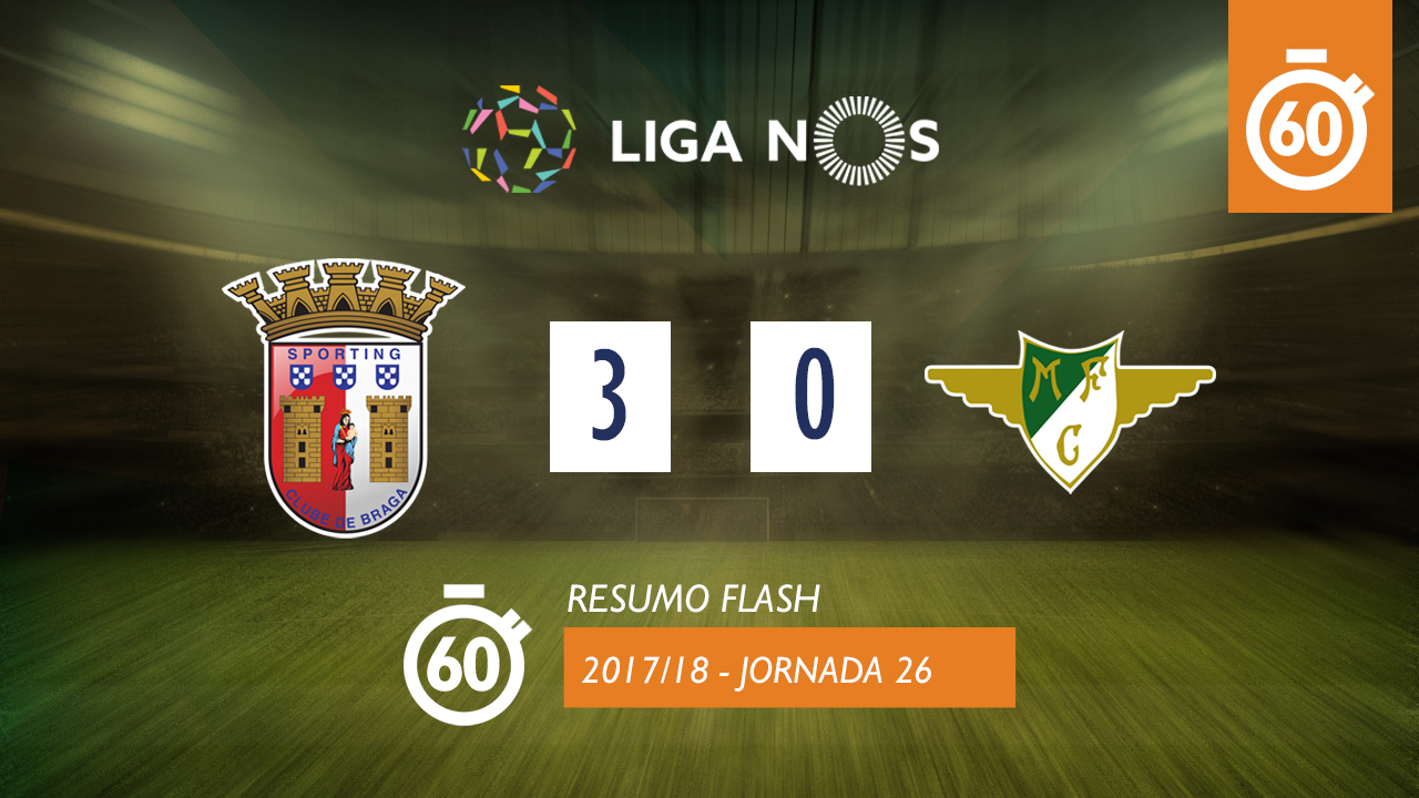 I Liga (26ªJ): Resumo Flash SC Braga 3-0 Moreirense FC