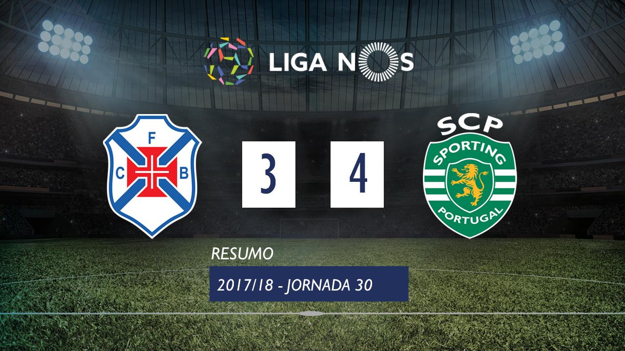 I Liga (30ªJ): Resumo Os Belenenses 3-4 Sporting CP