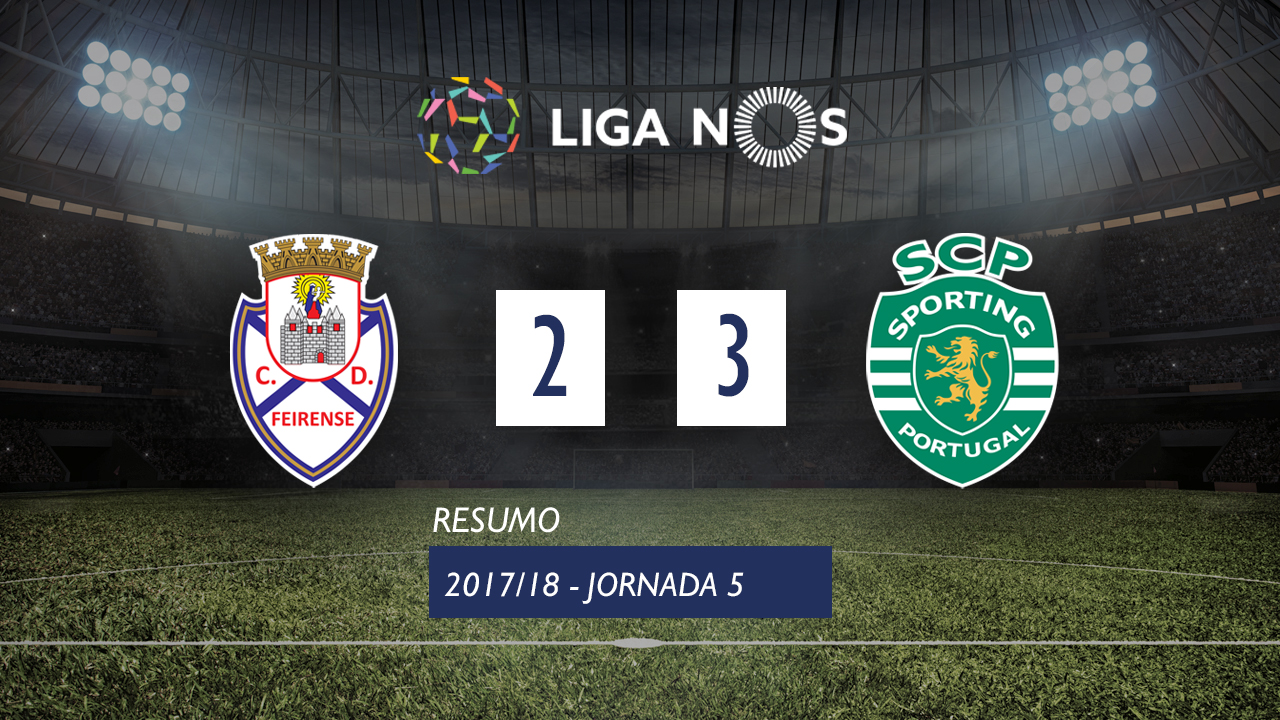 Feirense Sporting Lisbon goals and highlights