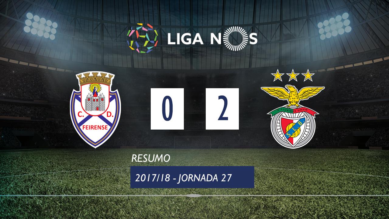 I Liga (27ªJ): Resumo CD Feirense 0-2 SL Benfica