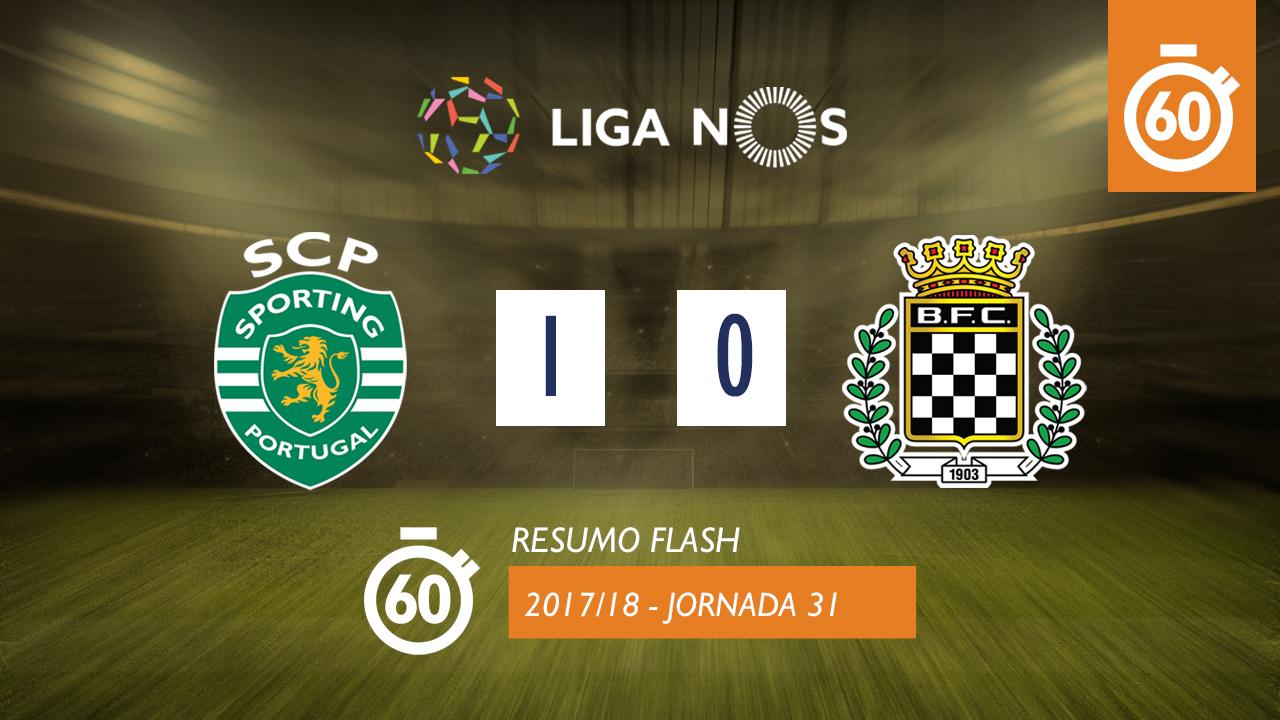 I Liga (31ªJ): Resumo Flash Sporting CP 1-0 Boavista FC