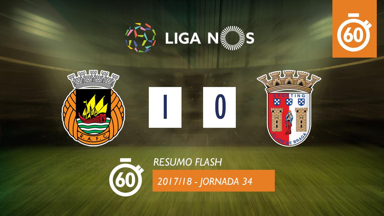 I Liga (34ªJ): Resumo Flash Rio Ave FC 1-0 SC Braga