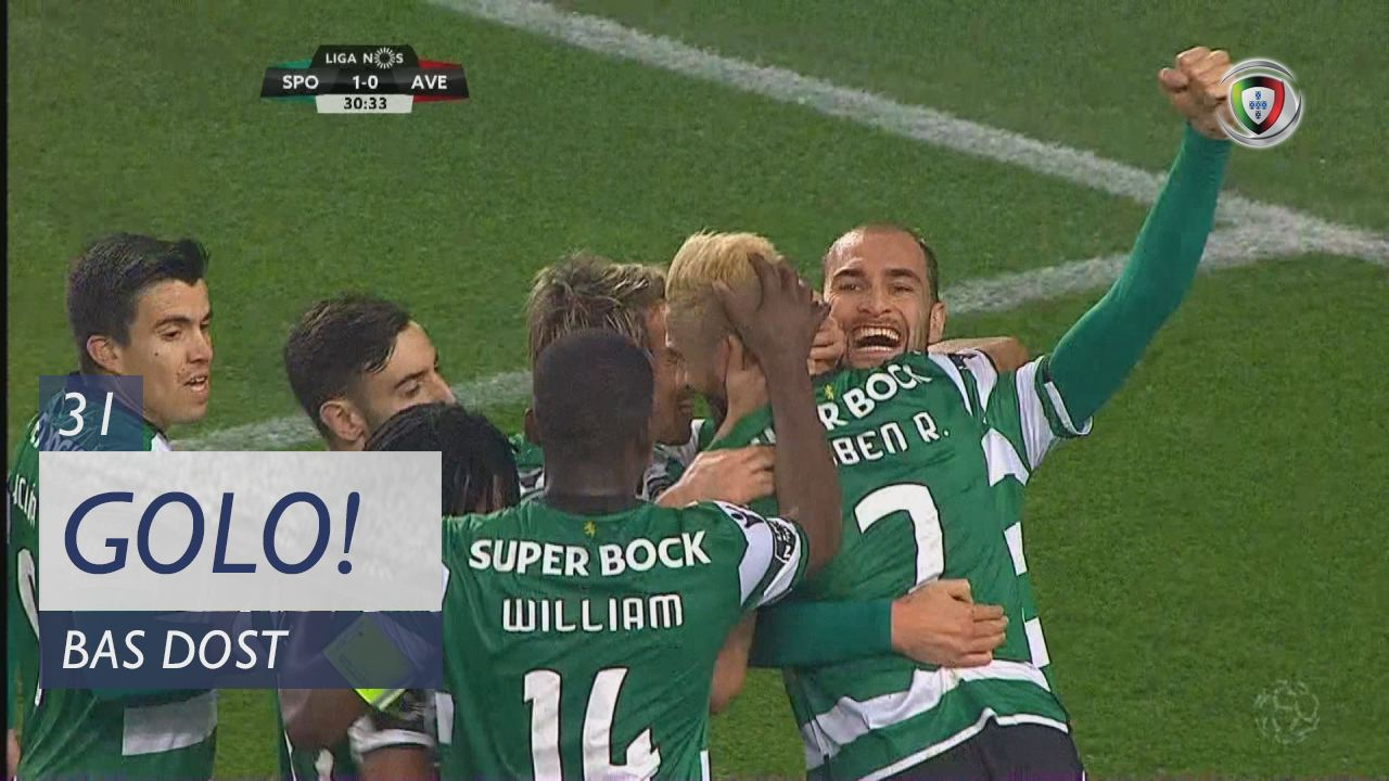 Sporting CP, Bas Dost aos 31', Sporting CP 1-0 CD Aves