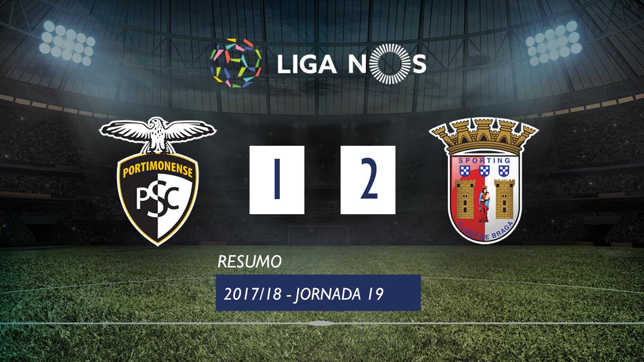I Liga (19ªJ): Resumo Portimonense 1-2 SC Braga