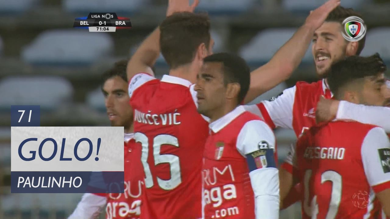 GOLO! SC Braga, Paulinho aos 71', Belenenses 0-1 SC Braga