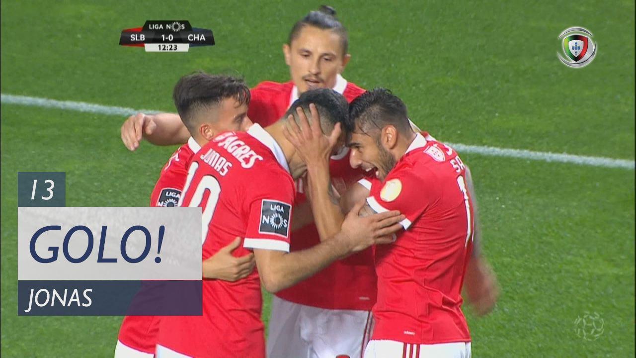 SL Benfica, Jonas aos 13', SL Benfica 1-0 GD Chaves