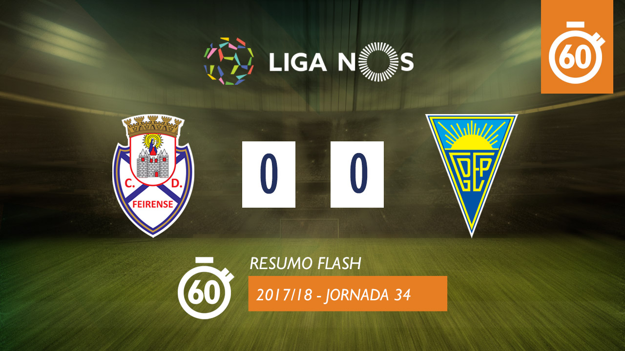 I Liga (34ªJ): Resumo Flash CD Feirense 0-0 Estoril Praia