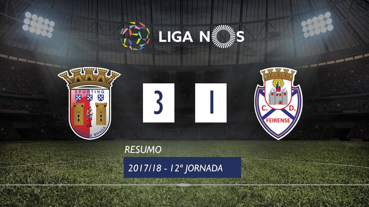 Braga Feirense goals and highlights