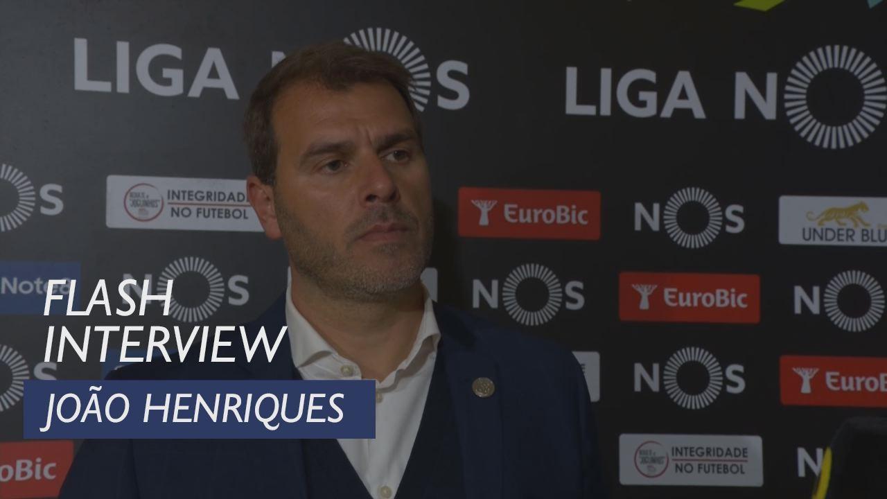 Liga (24ª): Flash interview João Henriques