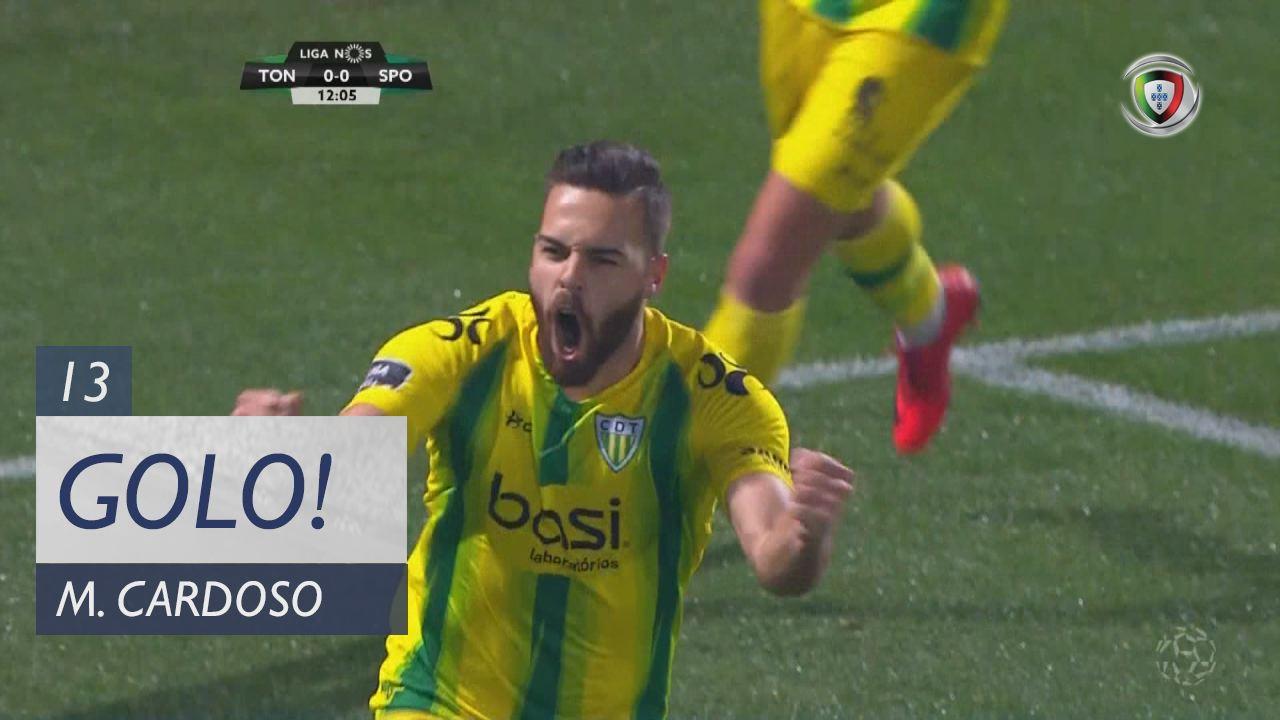 CD Tondela, Miguel Cardoso aos 13', CD Tondela 1-0 Sporting CP