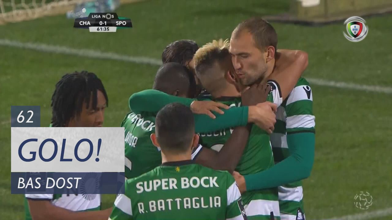 Sporting CP, Bas Dost aos 62', GD Chaves 0-1 Sporting CP