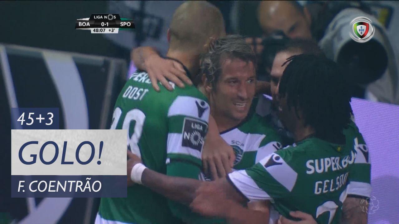 Sporting CP, Fábio Coentrão aos 45'+3', Boavista FC 0-1 Sporting CP