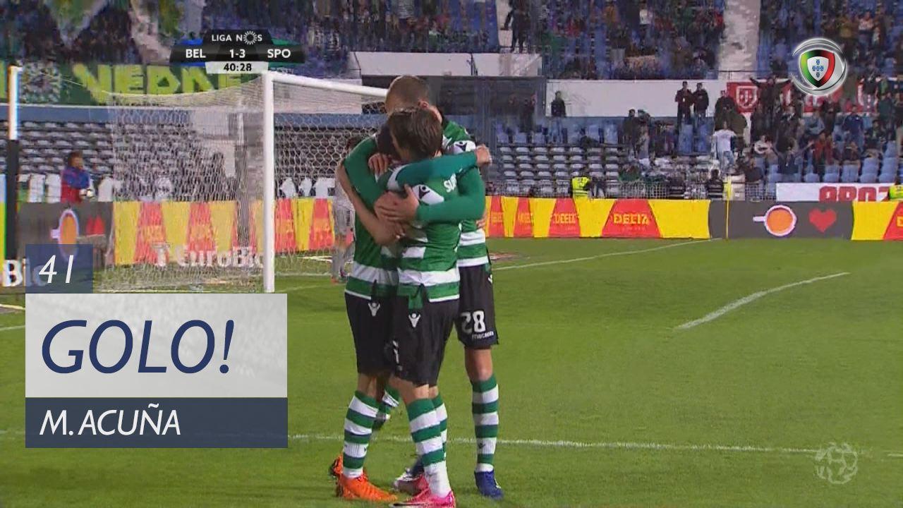 GOLO! Sporting CP, M. Acuña aos 41', Os Belenenses 1-3 Sporting CP