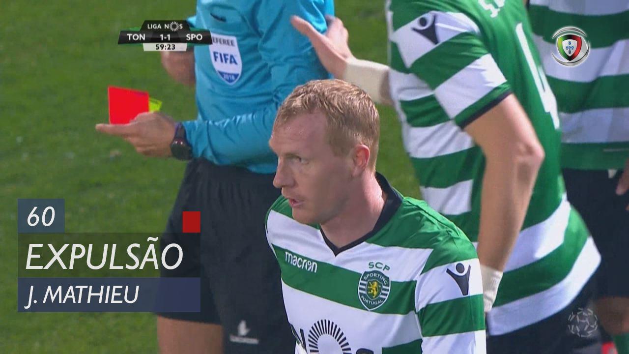 Sporting CP, Expulsão, J. Mathieu aos 60'