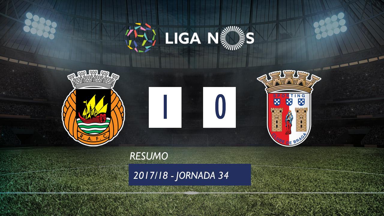 I Liga (34ªJ): Resumo Rio Ave FC 1-0 SC Braga