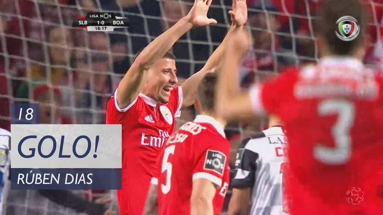 SL Benfica, Rúben Dias aos 18', SL Benfica 1-0 Boavista FC