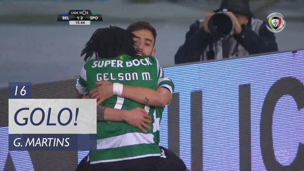 GOLO! Sporting CP, Gelson Martins aos 16', Os Belenenses 1-2 Sporting CP
