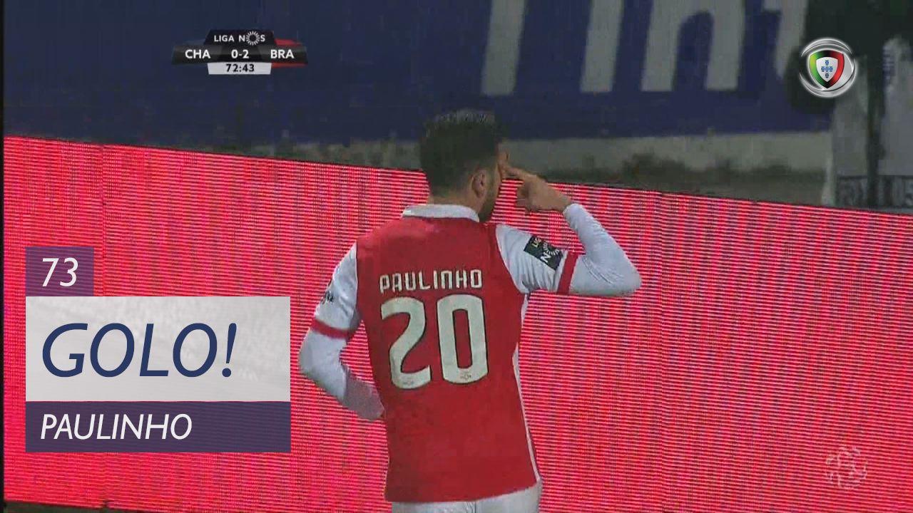 GOLO! SC Braga, Paulinho aos 73', GD Chaves 0-3 SC Braga