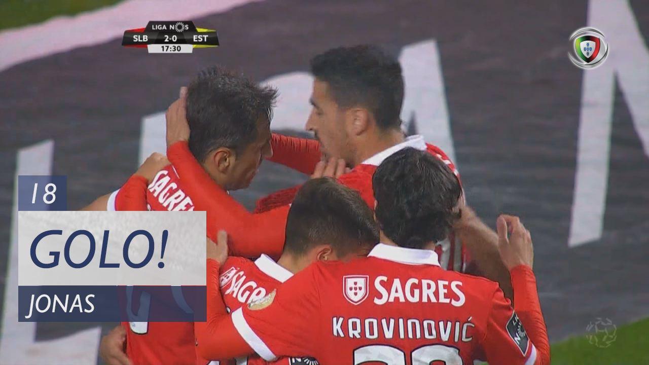 SL Benfica, Jonas aos 18', SL Benfica 2-0 Estoril Praia