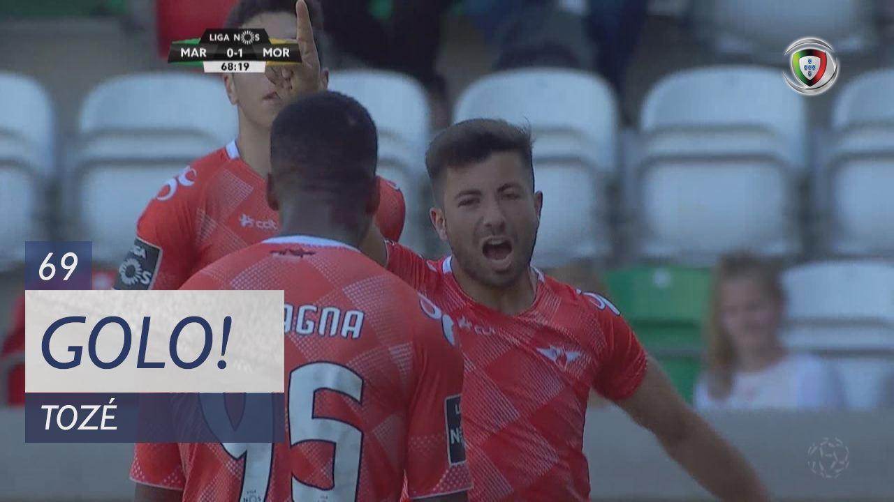 GOLO! Moreirense FC, Tozé aos 69', Marítimo M. 0-1 Moreirense FC