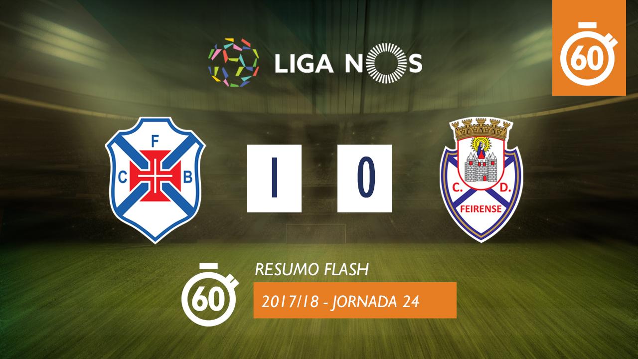 I Liga (24ªJ): Resumo Flash Os Belenenses 1-0 CD Feirense