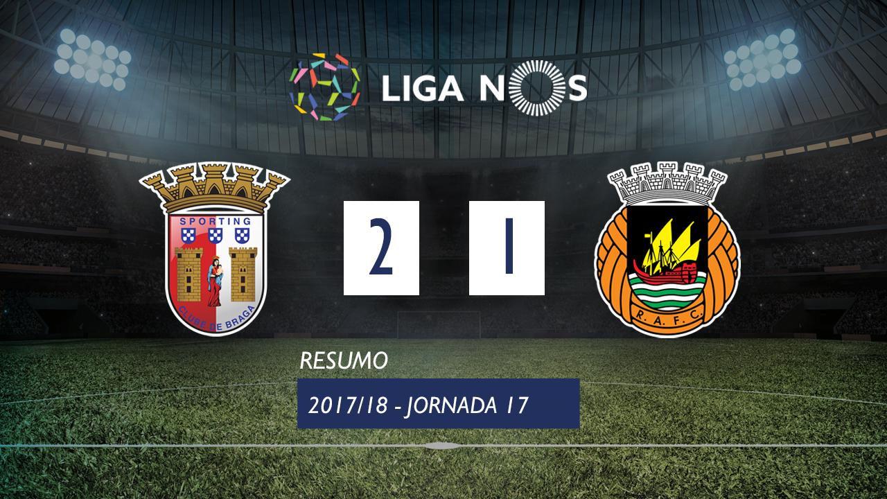 I Liga (17ªJ): Resumo SC Braga 2-1 Rio Ave FC