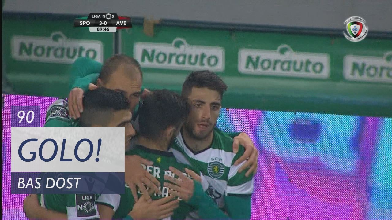 Sporting CP, Bas Dost aos 90', Sporting CP 3-0 CD Aves