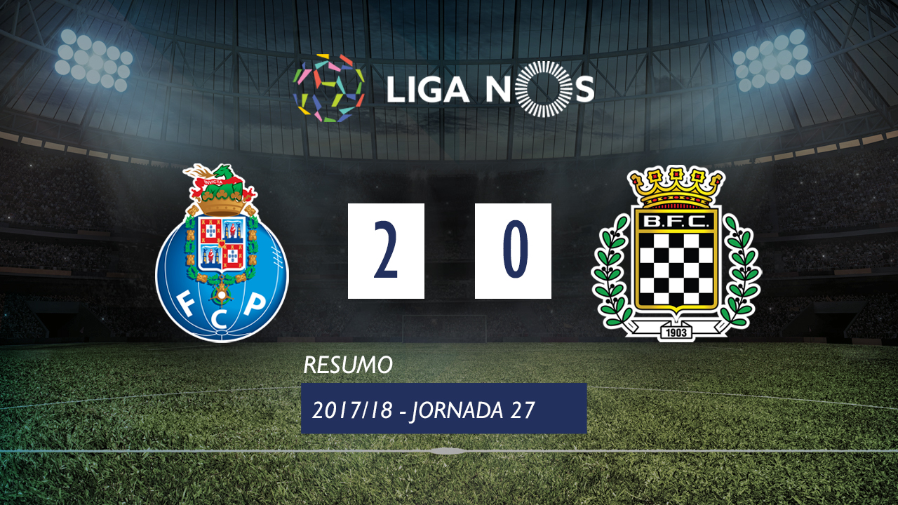 I Liga (27ªJ): Resumo FC Porto 2-0 Boavista FC