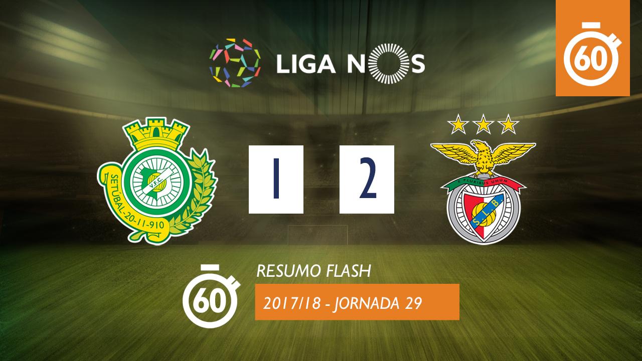 I Liga (29ªJ): Resumo Flash Vitória FC 1-2 SL Benfica