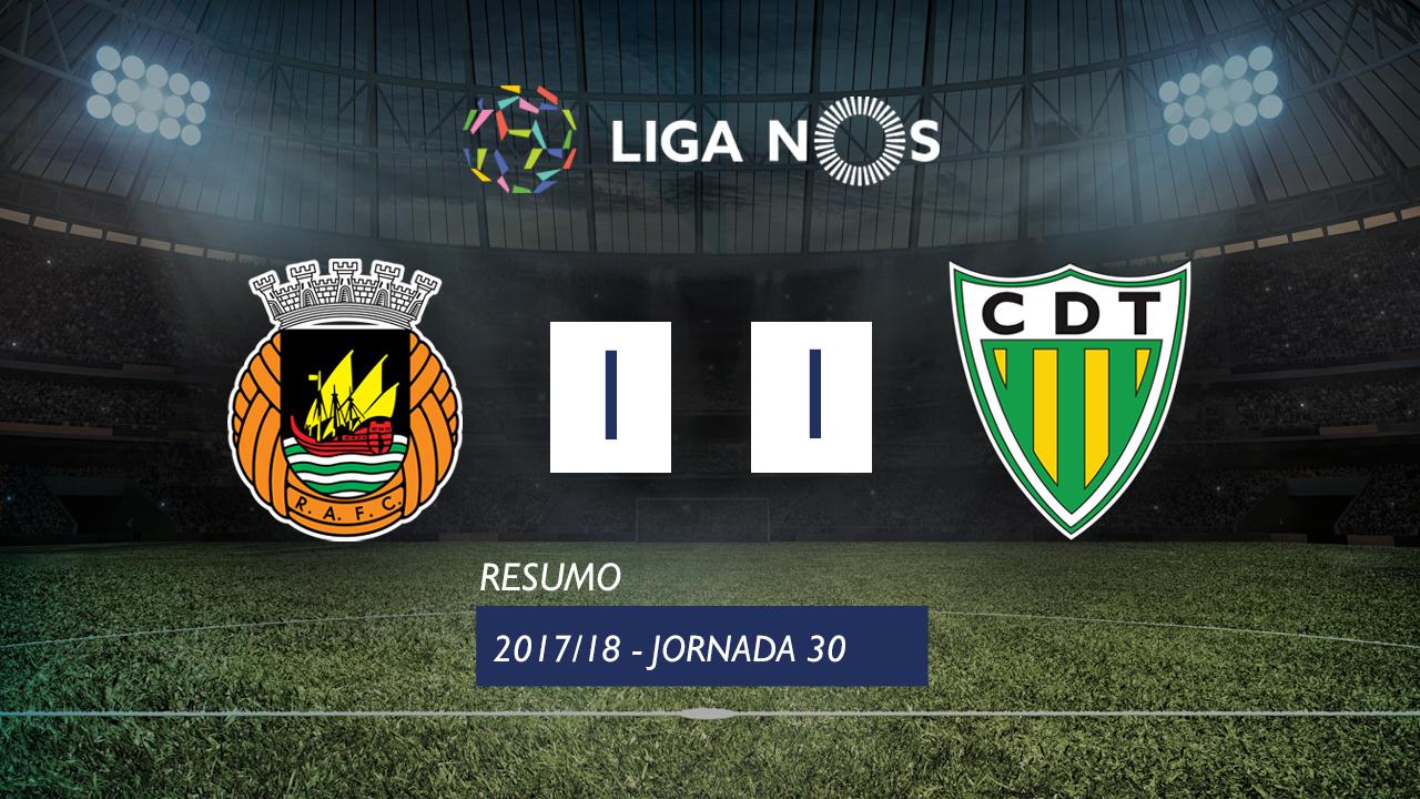 I Liga (30ªJ): Resumo Rio Ave FC 1-1 CD Tondela