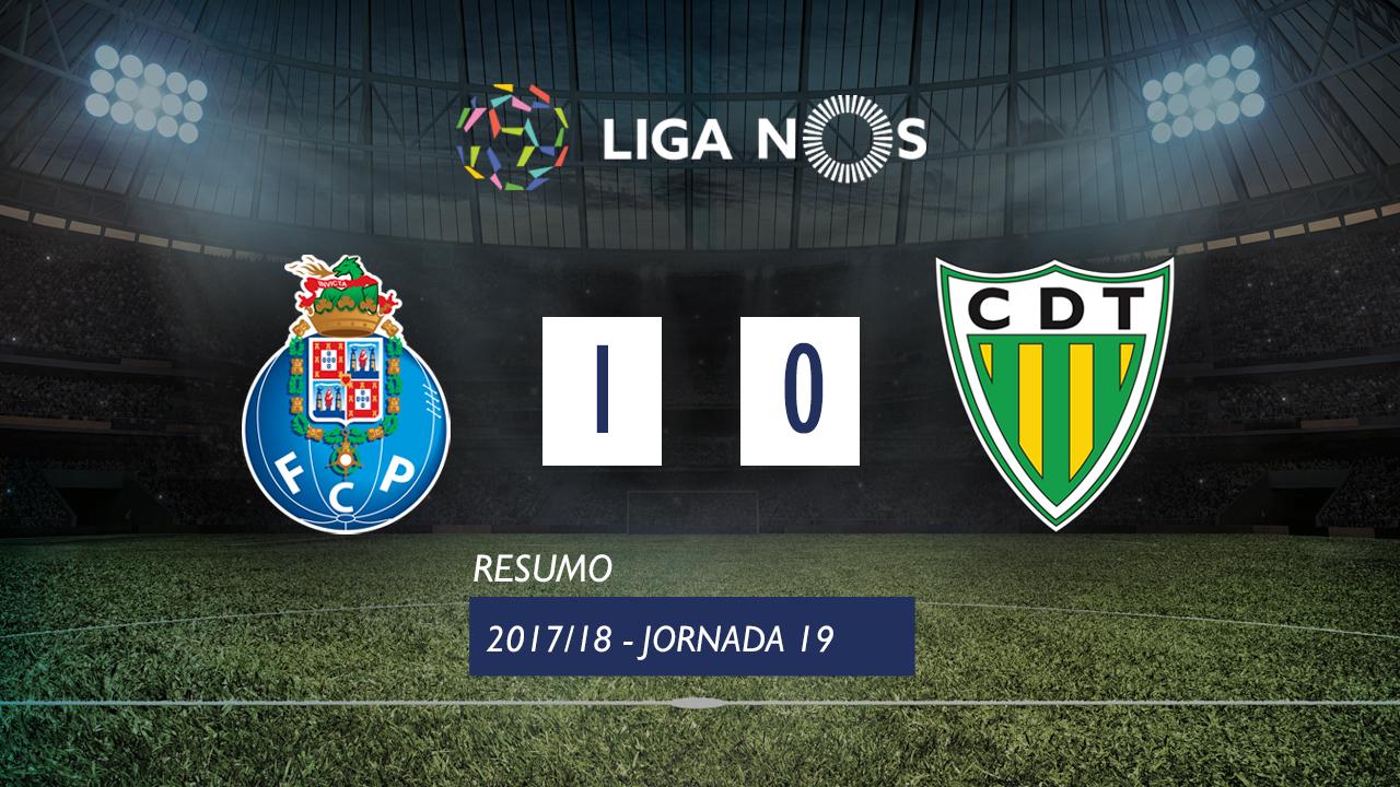 I Liga (19ªJ): Resumo FC Porto 1-0 CD Tondela