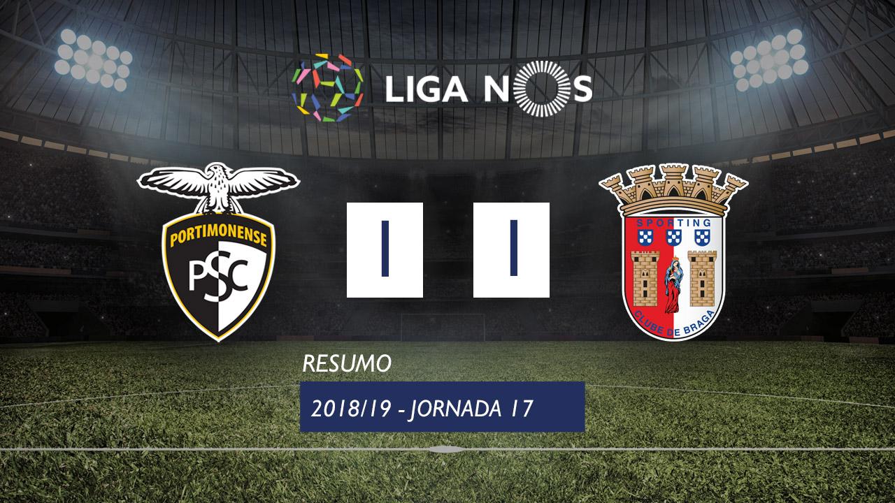 Liga NOS (17ªJ): Resumo Portimonense 1-1 SC Braga