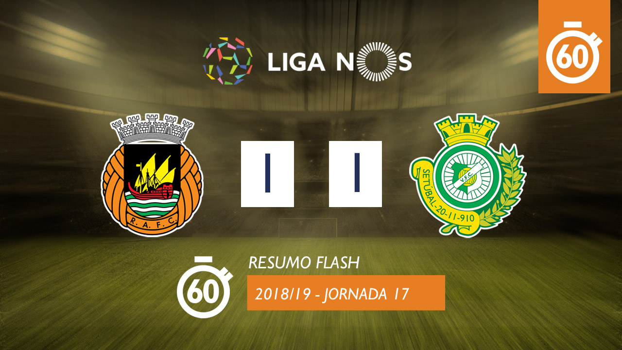 I Liga (17ªJ): Resumo Flash Rio Ave FC 1-1 Vitória FC