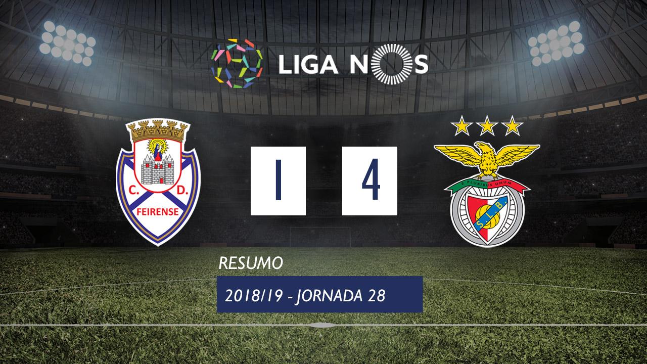 Liga NOS (28ªJ): Resumo CD Feirense 1-4 SL Benfica
