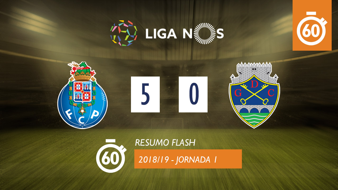 I Liga (1ªJ): Resumo Flash FC Porto 5-0 GD Chaves