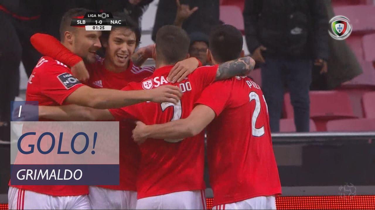 Benfica Nacional Resumo: SL Benfica, Golo, Grimaldo, 1m, 1-0